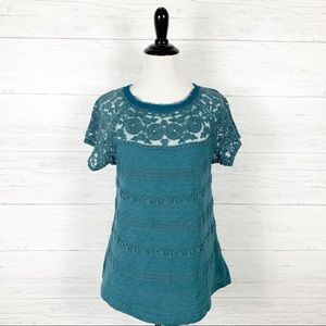 Meadow Rue • Gossamer Lace Top Tee